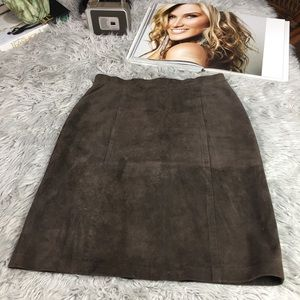 Tommy Bahama Leather suede skirt